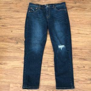 WORN ONCE Levi's Ripped Boyfriend Jeans